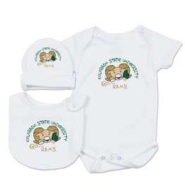 GO RAMS BABY SET- INCLUDES BODYSUIT, CAP AND BIB