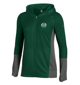 UNDER ARMOUR LADIES UA RAM TECH TERRY FULL ZIP HOOD