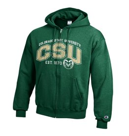 CHAMPION CUSTOM PRODUCTS CSU FULL ZIP HOODED SWEATSHIRT