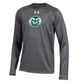 UNDER ARMOUR YTH LS RAM LOGO TECH TEE
