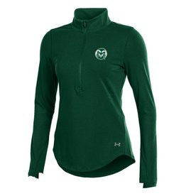 UNDER ARMOUR LADIES UA RAM LOGO 1/2 ZIP CHARGED COTTON