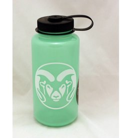 Large Ram Head Logo Nalgene, GLOW IN THE DARK GREEN