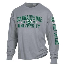 GEAR FOR SPORTS COLO ST GARMENT WASHED LS TEE- 3 LOCATION PRINT