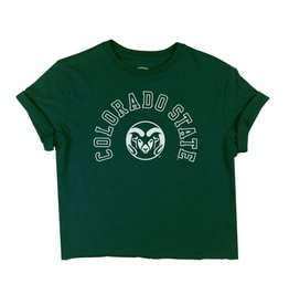 LEGACY ATHLETIC APPAREL LADIES COLO STATE BOYFRIEND CROPPED TEE