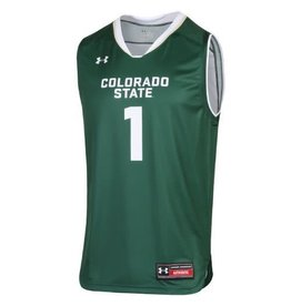 UNDER ARMOUR GREEN CSU REPLICA BASKETBALL JERSEY #1