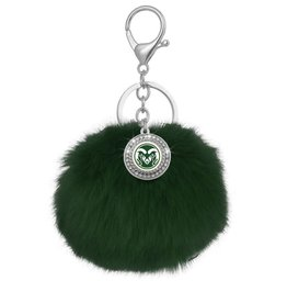 CSU RAM GREEN POM POM KEY CHAIN