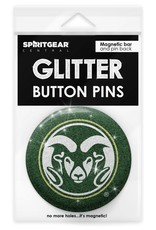 COLO STATE RAMS GLITTER BUTTON PIN