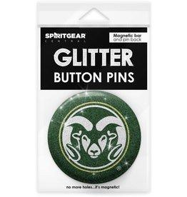 COLO STATE RAMS GLITTER BUTTON PIN