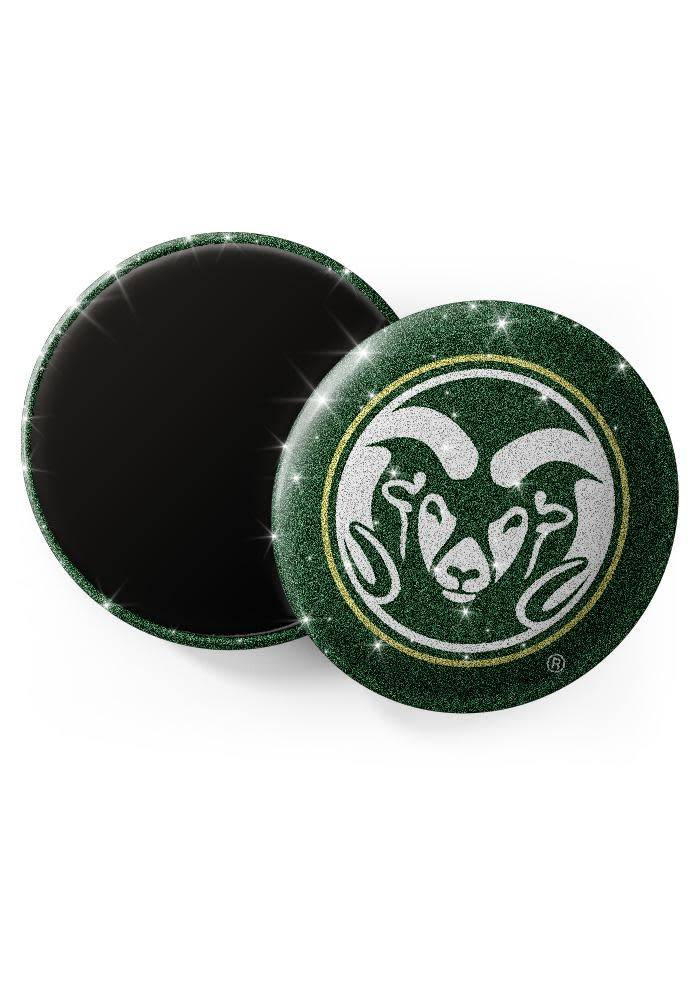 COLO STATE RAMS GLITTER MAGNET