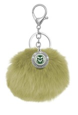 CSU RAM GOLD POM POM KEY CHAIN
