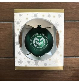 CSU GLASS BALL ORNAMENT
