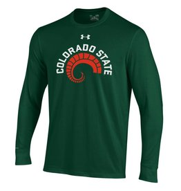 UNDER ARMOUR UA COLO STATE RAMS HORN FOREST GREEN LS TEE