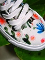 Girls White Prickly Cactus Shoes