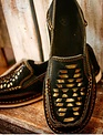 Ladies Black & Gold Basketweave Cruiser