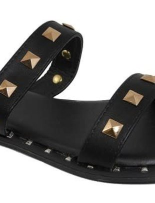 Cassie Two Strap Studded Sandal