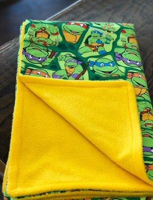 Ninjia Turtle Fleece Baby Blanket