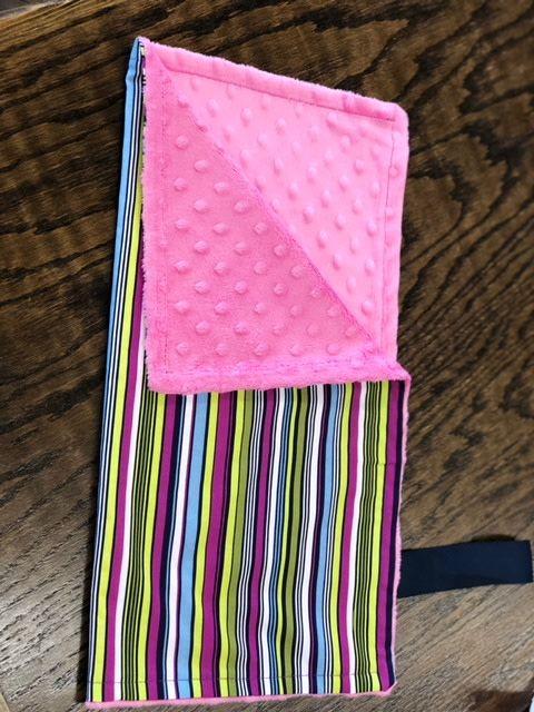 Binky Blanket Strip w/ Pink Minkie