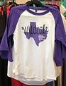 Back Road Beauties Ladies Wildcats Purple Texas Baseball Tee