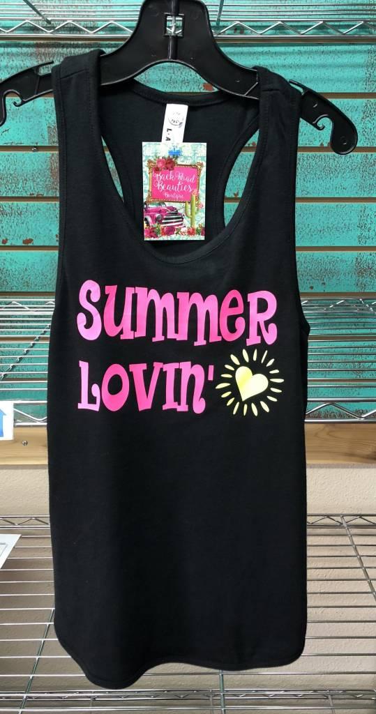 Back Road Beauties Kids Summer Lovin' Black Tank