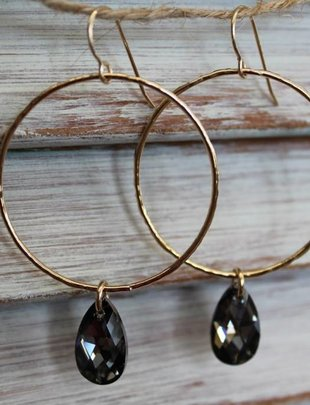 Kendra Kist Large Circle Drop Earring-GF/BD