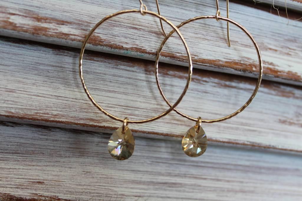 Kendra Kist Large Circle Drop Earring-GF/GS