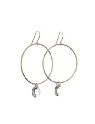 Kendra Kist Large Circle Drop Earring-SS/AB
