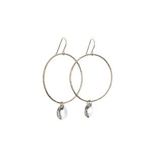 Kendra Kist Large Circle Drop Earring-GF/AB