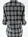 Black/White Plaid Flannel Shirt
