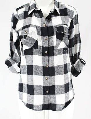 clothing of america Roll Up Sleeve FLannel Shirt