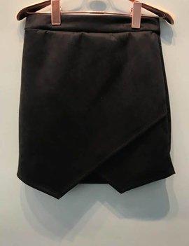 Newberry Kustoms Black Overlap Mini Skirt
