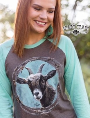Crazy Train Whatever Floats Your Goat Baseball Tee