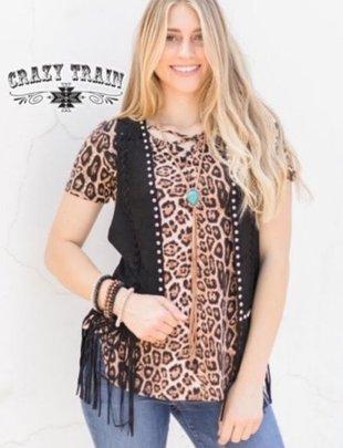 Crazy Train Turnpike Black Studded Short Vest