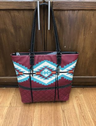 Wine TQ Aztec Purse