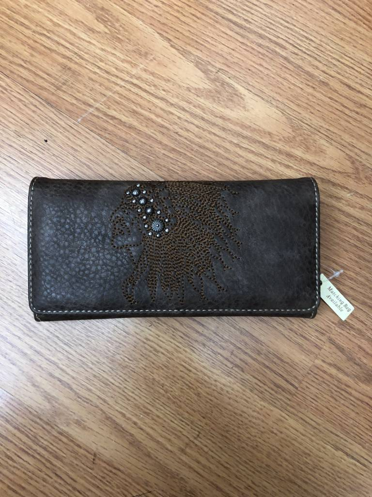 Brown Indian Head Wallet
