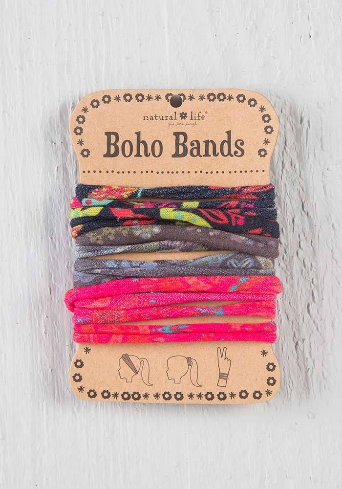 Boho Bands Black/Charcoal/Pink Multicolor