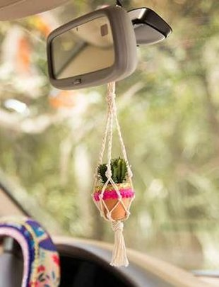 Cream Mini Macrame' Succulent