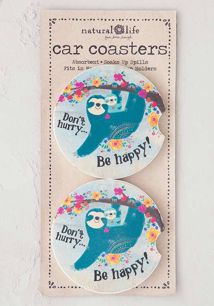 Don't Hurry Be Happy Car Coaster