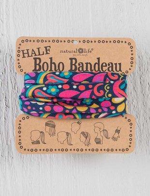 Purple Geometric Half Boho Bandeau