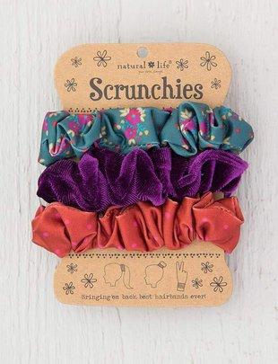 Purple Velvet Scrunchie Set