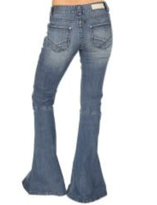 Ladies Med. Wash Bell Bottom Jean