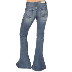 Ladies Med. Wash Bell Bottom Jean