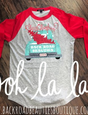Back Road Beauties Christmas BB Tee