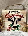 Back Road Beauties Farmhouse Christmas Wooden Sign