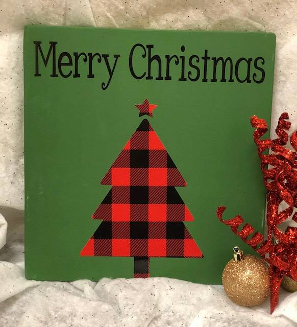 Back Road Beauties Green Merry Christmas Sign