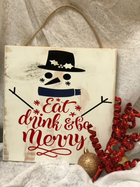 Back Road Beauties Eat Drink & Be Merry Wooden Sign