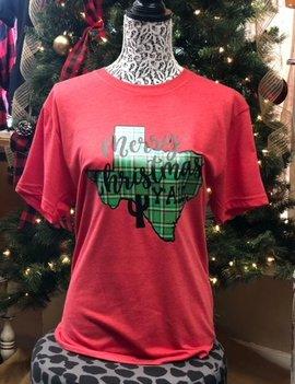 Back Road Beauties TX Merry Christams Y'all Tee