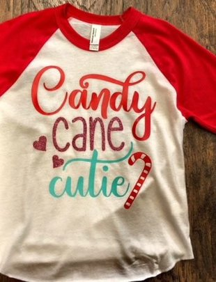 Back Road Beauties Kids Candy Cane Cutie Tee
