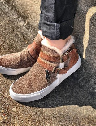 Mojo Gray Weave High Top Sneaker