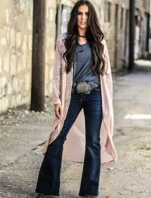 Pink Sequin Cardigan