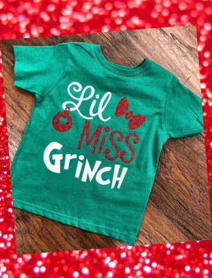 Back Road Beauties Lil' Miss Grinch Kids Tee